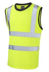 HiVis Sleeveless Tee Shirt - Yellow