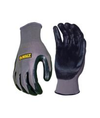 DeWalt Nitrile Nylon Gloves - Black / Grey