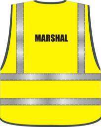 Pre-Designed Hi Vis MARSHAL Vest - Yellow