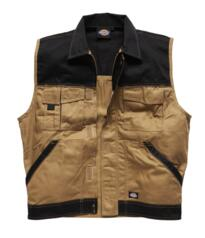 Dickies Industry 300 Two Tone Work Vest - Khaki / Black