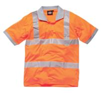 HiVis GO/RT Dickies Polo Shirt - Orange