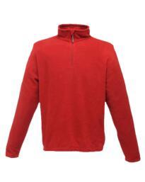 Regatta Micro Zip Neck Fleece - Red