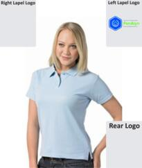 Penalyn Ladies Poly/Cotton Polo [Embroidered] - Sky Blue
