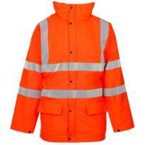 ST HiVis Storm-Flex PU Padded Parka Jacket - Orange