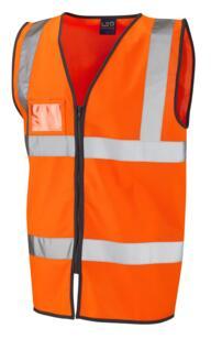 HiVis Zipped ID Vest - Orange