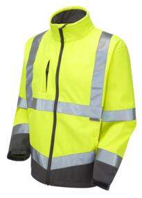 HiVis Buckland Softshell Jacket - Yellow