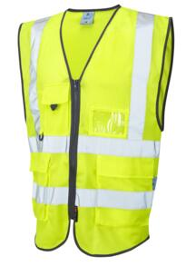 Leo HiVis CoolViz Mesh Executive Vest - Yellow