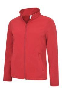 Uneek Ladies Classic Full Zip Soft Shell - Red