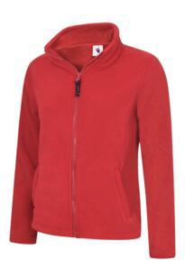 Uneek Ladies Classic Full Zip Fleece Jacket - Red