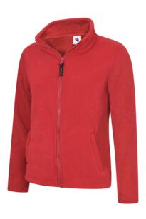 Uneek Ladies Classic Full Zip Fleece Jacket - Red