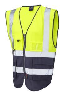 HiVis Two Tone Executive Vest - Yellow / Navy Blue