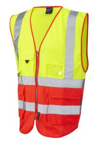 HiVis Two Tone Executive Vest - Yellow / Red