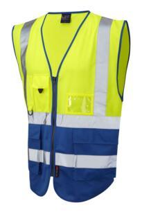 HiVis Two Tone Executive Vest - Yellow / Royal Blue