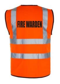 HiVis FIRE WARDEN Vest - Orange