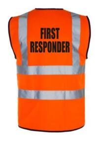 HiVis FIRST RESPONDER Vest - Orange