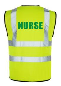 HiVis NURSE Vest - Yellow