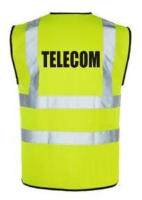 HiVis TELECOM Vest - Yellow