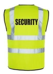 HiVis SECURITY Vest - Yellow