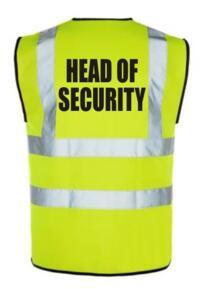 HiVis HEAD SECURITY Vest - Yellow