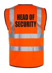 HiVis HEAD SECURITY Vest - Orange