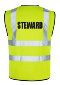 HiVis STEWARD Vest - Yellow