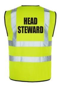 HiVis HEAD STEWARD Vest - Yellow