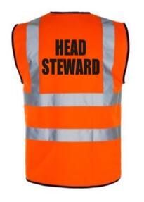HiVis HEAD STEWARD Vest - Orange