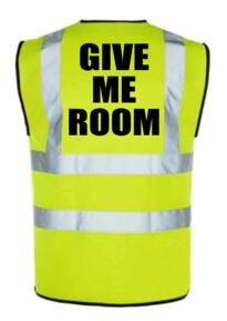 HiVis Cyclists Give Me Room Vest - Yellow