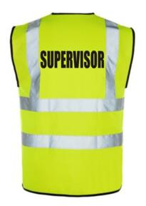 HiVis Supervisor Vest - Yellow
