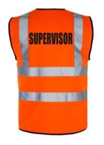 HiVis Supervisor Vest - Orange