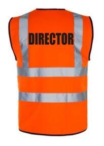 HiVis Director Vest - Orange