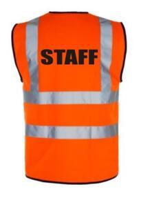 HiVis STAFF Vest - Orange