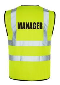 HiVis MANAGER Vest - Yellow