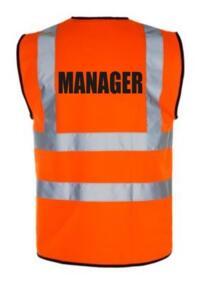 HiVis MANAGER Vest - Orange