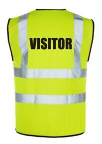 HiVis Visitor Vest - Yellow