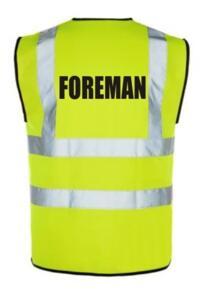 HiVis FOREMAN Vest - Yellow