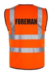 HiVis FOREMAN Vest - Orange