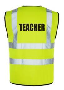 HiVis TEACHER Vest - Yellow