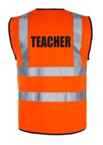 HiVis TEACHER Vest - Orange