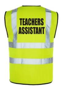 HiVis TEACHERS ASSISTANT Vest - Yellow