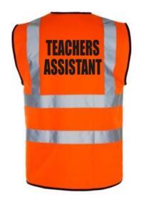 HiVis TEACHERS ASSISTANT Vest - Orange