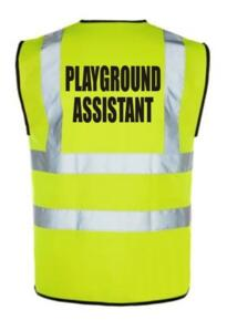 HiVis PLAYGROUND ASSISTANT Vest - Yellow