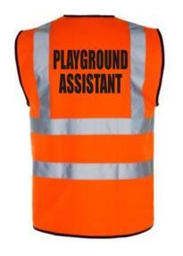 HiVis PLAYGROUND ASSISTANT Vest - Orange
