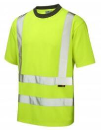 Braunton HiVis CoolViz Tee Shirt - Yellow