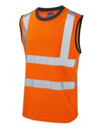 Leo HiVis Sleeveless Tee Shirt Rail Spec - Orange
