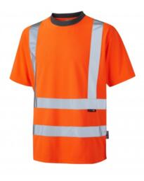 Leo HiVis Coolviz Tee Shirt Rail Spec - Orange