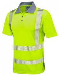 Leo HiVis CoolViz Plus Class 2 Polo Shirt - Yellow