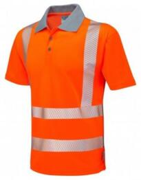 Woolacombe HiVis GO/RT CoolViz Plus Class 2 Polo Shirt - Orange
