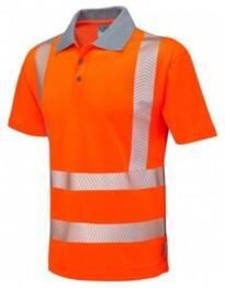 Woolacombe HiVis GO/RT CoolViz Plus Class 2 Polo Shirt - Orange