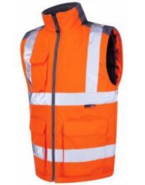 Leo HiVis GO/RT Torrington Bodywarmer - Orange